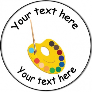 Personalised custom badge Education and School paint brush palette