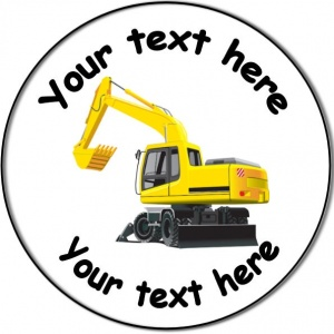Personalised custom badge Kids Party digger