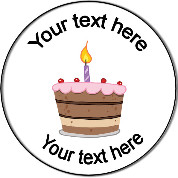 Personalised Custom Badge Birthday Candle On A Cake