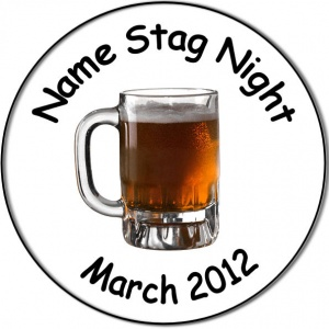 Personalised custom badge Stag Night Badge pint of beer