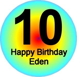 Personalised custom badge birthday Colourful Background