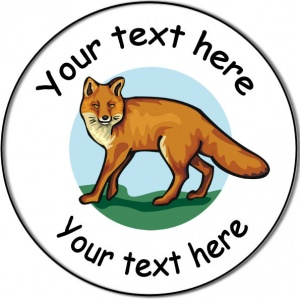 Personalised custom badge Education and School cute fox