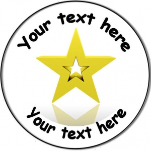 Personalised custom badge Education and School Gold Star award achievement