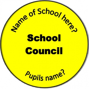 Personalised custom badge Education and School School Council