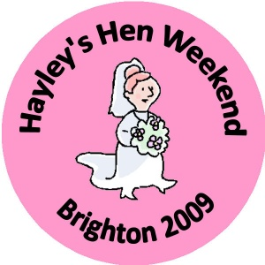 Personalised custom badge hen night party bride to be