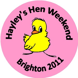 Personalised custom badge hen night party chick