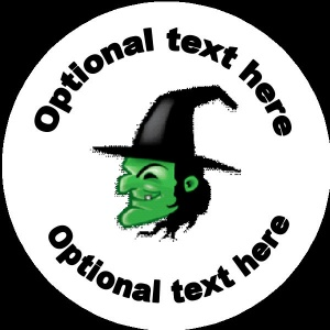 Personalised Halloween Badge witch