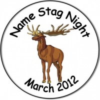 Personalised custom badge Stag Night Badge stag picture