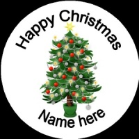 Personalised Christmas Badge Christmas tree