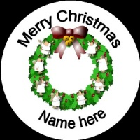 Personalised Christmas Badge Wreath