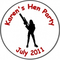 Hen Night Party personalised badge army gangster