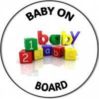 Personalised custom badge Baby on Board pregnancy mum to be baby blocks