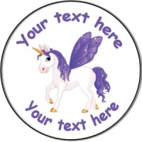 Personalised custom badge birthday unicorn fairy horse