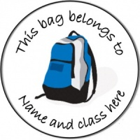 Personalised custom badge Education and School this bag belongs to