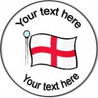Personalised custom badge England flag