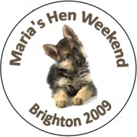 Personalised custom badge hen night party cute puppy