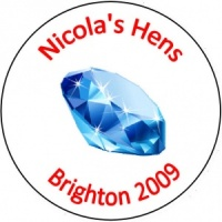 Personalised custom badge hen night party diamond