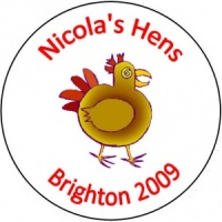 Personalised custom badge hen night party hen chicken