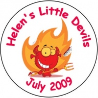 Personalised custom badge hen night party little devils
