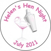Personalised custom badge hen night party martini shaker alcohol drink