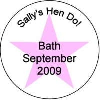 Personalised custom badge hen night party pink star