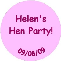 Personalised custom badge hen night party plain text