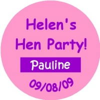 Personalised custom badge hen night party plain text with individual names