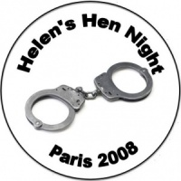 Personalised custom badge hen night party police handcuffs