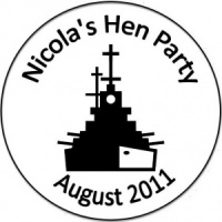 Personalised custom badge hen night party warship navy boat