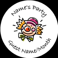 Personalised custom badge Kids Party clown