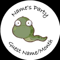 Personalised custom badge Kids Party snake