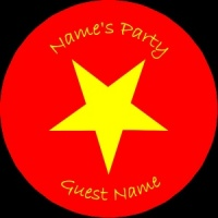 Personalised custom badge Kids Party yellow star