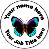 Personalised custom badge Nursery Nurse/Staff Nurse/Nursing Butterfly