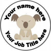 Personalised custom badge Nursery Nurse/Staff Nurse/Nursing Koala