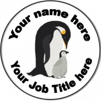 Personalised custom badge Nursery Nurse/Staff Nurse/Nursing Penguins