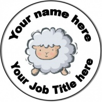 Personalised custom badge Nursery Nurse/Staff Nurse/Nursing Sheep