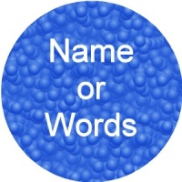 Personalised custom badge Patterned blue bubble background can be used as ID badge