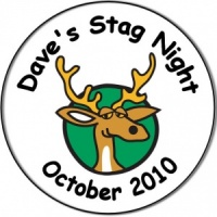 Stag Night Party personalised badge cartoon stag