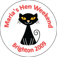 Personalised custom badge hen night party black cat