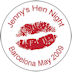 Personalised Hen night lips badge