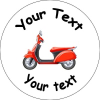 Personalised custom badge moped