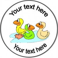 Personalised Birthday or Party Badge Ducklings