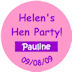 Personalised hen night individual name badge